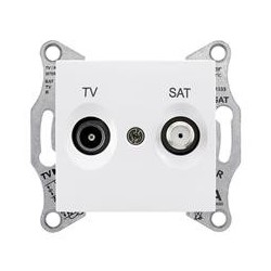 Zásuvka TV/SAT průběžná 4dB, polar SDN3401921 SEDNA Schneider Electric