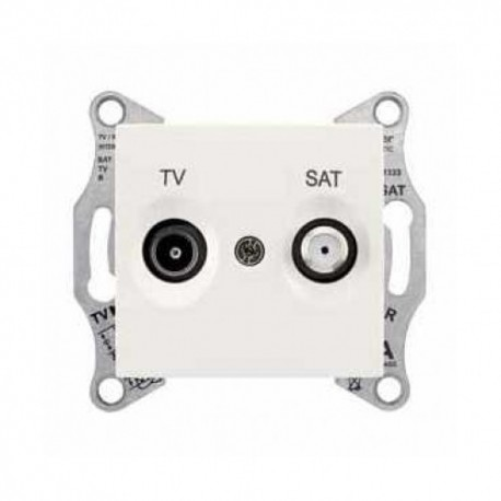 Zásuvka TV/SAT průběžná 4dB, cream SDN3401923 SEDNA Schneider Electric