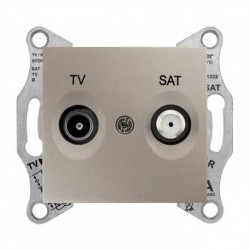 Zásuvka TV/SAT průběžná 4dB, titan SDN3401968 SEDNA Schneider Electric