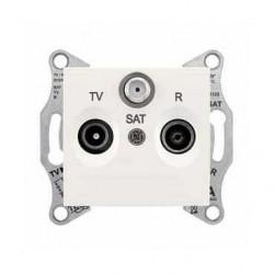 Zásuvka TV-R-SAT průběžná 8 dB, cream SDN3501223 SEDNA Schneider Electric