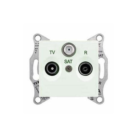 Zásuvka TV-R-SAT průběžná 8 dB, biege SDN3501247 SEDNA Schneider Electric