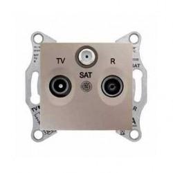 Zásuvka TV-R-SAT průběžná 8 dB, titan SDN3501268 SEDNA Schneider Electric