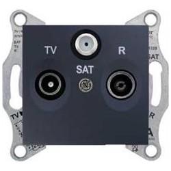 Zásuvka TV-R-SAT průběžná 8 dB, graphite SDN3501270 SEDNA Schneider Electric