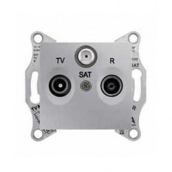 Zásuvka TV-R-SAT koncová, alu SDN3501360 SEDNA Schneider Electric