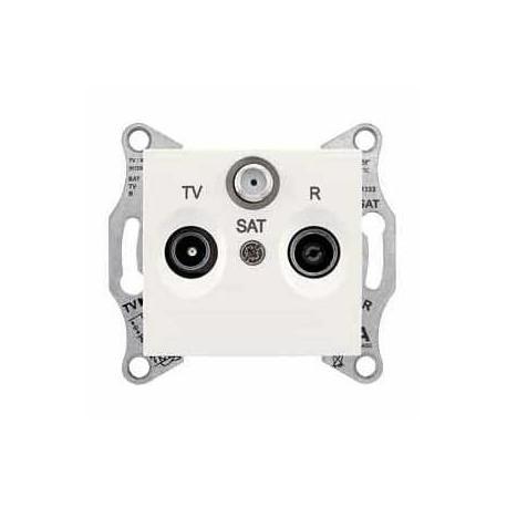 Zásuvka TV-R-SAT průběžná 4 dB, cream SDN3501423 SEDNA Schneider Electric