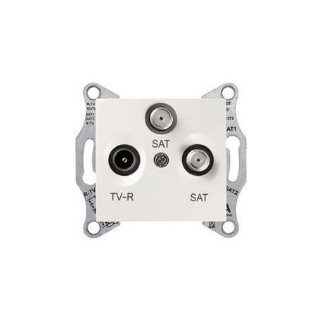 Zásuvka TV/R-SAT-SAT koncová, cream SDN3502123 SEDNA Schneider Electric