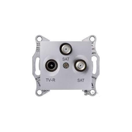Zásuvka TV/R-SAT-SAT koncová, alu SDN3502160 SEDNA Schneider Electric