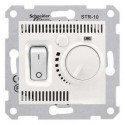 Termostat prostorový otočný s vypínačem, cream SDN6000123 SEDNA Schneider Electric