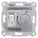 Termostat prostorový otočný s vypínačem, alu SDN6000160 SEDNA Schneider Electric
