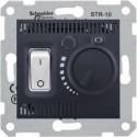 Termostat prostorový otočný s vypínačem, graphite SDN6000170 SEDNA Schneider Electric