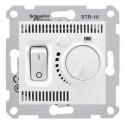 Termostat pro podlahové vytápění otočný s vypínačem, polar SDN6000321 SEDNA Schneider Electric