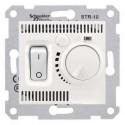 Termostat pro podlahové vytápění otočný s vypínačem, cream SDN6000323 SEDNA Schneider Electric