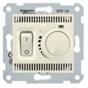 Termostat pro podlahové vytápění otočný s vypínačem, biege SDN6000347 SEDNA Schneider Electric