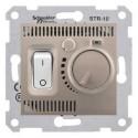 Termostat pro podlahové vytápění otočný s vypínačem, titan SDN6000368 SEDNA Schneider Electric