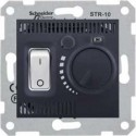 Termostat pro podlahové vytápění otočný s vypínačem, graphite SDN6000370 SEDNA Schneider Electric