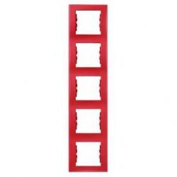 Rámeček pětinásobný vertikální, red SDN5801541 SEDNA Schneider Electric
