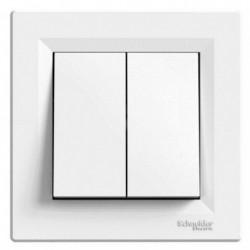 Přepínač dvojitý střídavý ř. 6+6, bílá, bezšroubový EPH0600121 ASFORA Schneider Electric