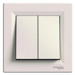 Přepínač dvojitý střídavý ř. 6+6, krémová, bezšroubový EPH0600123 ASFORA Schneider Electric