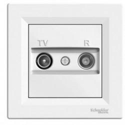Zásuvka TV-R, průběžná, bílá EPH3300221 ASFORA Schneider Electric