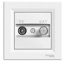 Zásuvka TV-SAT, koncová, bílá EPH3400121 ASFORA Schneider Electric