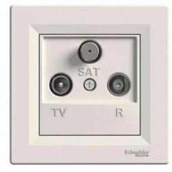 Zásuvka TV-R-SAT, koncová, krémová EPH3500123 ASFORA Schneider Electric