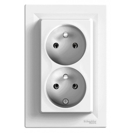 Zásuvka 2násobná 2x(2P+PE), bílá EPH9800121 ASFORA Schneider Electric