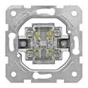 Přístroj ovládače dvojitého 0/1 + 0/1, šroubové svorky Schrack VISIO 50 EV100024--