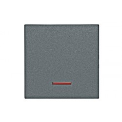 Kryt vypínače - červený průhled, barva antracit Schrack VISIO 50 EV112008--