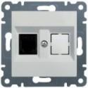 Telefoní zásuvka 1 x RJ11 - Jack cat.3- bílá WL2010 Hager lumina2