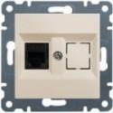 Telefoní zásuvka 1 x RJ11 - Jack cat.3 - krémová WL2011 Hager lumina2