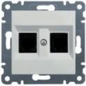 Datová zásuvka 2 x RJ45 - Jack cat.5e UTP - bílá WL2120 Hager lumina2