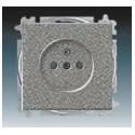 Zásuvka jednonásobná s ochr. kolíkem a clonkami, bezšroub. svorky metalická šedá ABB 5519B-A02357803, 5519B-A02357803