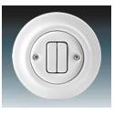 Vypínač, přepínač sériový bílá-porcelán 3559K-C05345 ABB Decento®
