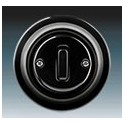 Vypínač, přepínač křížový černá-porcelán 3559K-C07345 N ABB Decento®