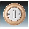 Vypínač, ovládač přepínací, se svorkou N, řazení 6/0 bílá-porc./přírodní buk 3559K-C86345 50 ABB Decento®