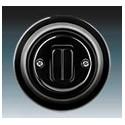 Vypínač, ovládač zapínací dvojitý černá-porcelán 3559K-C87345 N ABB Decento®