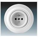 Zásuvka jednonásobná s ochranným kolíkem bílá-porcelán 5519K-C02347 ABB Decento®