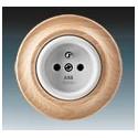 Zásuvka jednonásobná s ochranným kolíkem bílá-porc./přírodní buk 5519K-C02347 50 ABB Decento®