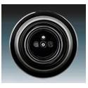 Zásuvka jednonásobná s ochranným kolíkem černá-porcelán 5519K-C02347 N ABB Decento®
