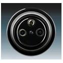 Zásuvka televizní, rozhlasová a satelitní, koncová černá-porcelán 5011K-C00403 N ABB Decento®