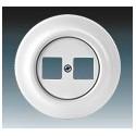 Zásuvka komunikační dvojnásobná bílá-porcelán 5014K-C01018 ABB Decento®