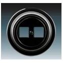 Zásuvka komunikační dvojnásobná černá-porcelán 5014K-C01018 N ABB Decento®
