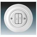 Vypínač, ovládač žaluziový bílá-porcelán 3559K-C88345 ABB