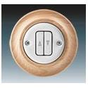 Vypínač, ovládač žaluziový bílá-porc./přírodní buk 3559K-C88345 50 ABB