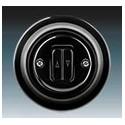 Vypínač, ovládač žaluziový černá-porcelán 3559K-C88345 N ABB
