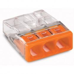 Svorka WAGO 2273-203 mini svorka krabicová 3x2,5mm, oranžová