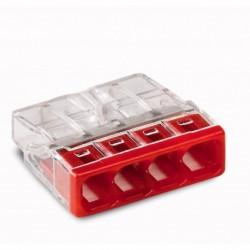 Svorka WAGO 2273-204 mini svorka krabicová 4x2,5mm, červená