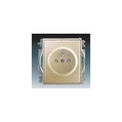 Zásuvka jednonásobná, chráněná, s clonkami, s bezšroub. sv. šampaňská ABB Time 5519E-A02357 33