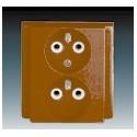 Zásuvka dvojnásobná chráněná, 81x81 mm hnědá ABB Classic 5512-2249 H3