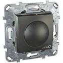 Stmívač otočný 40-1000W, vč.montážního rámečku, grafit MGU5.512.12 UNICA Schneider Electric
